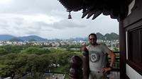 Ik en het uitzicht vanaf de tempel
