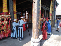 Bij de tempel in Pingyao