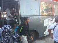 Onze bus van Kota Bahru naar Kuala Perlis (waar we de ferry naar de Perhentians nemen)