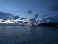 Ondergaande zon vanaf Coral Beach