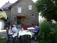 Bij Co en Klaus in de tuin