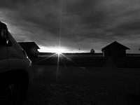 Zonsondergang in Dzerkali