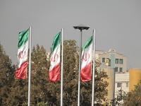 Veel Iraanse vlaggen