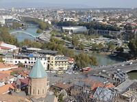 Uitzicht op Tiblisi