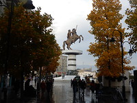 Herfst in Skopje