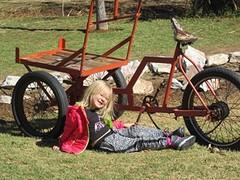 kika haar nieuwe fiets