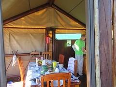 keuken in de tent