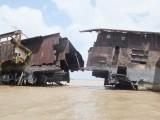 Duits schip in de Surinaamse rivier