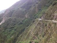 Een van de bergweggetjes