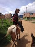 Max op een paard