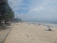 Met een zonnetje ziet het strand er anders uit
