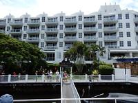 Het Sofitel hotel waar de ferry vandaan vertrok