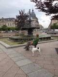Rust bij de fontein