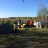 En wat een mooi uitzicht op deze gratis camping.