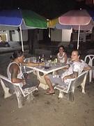 Savonds bij de bungalow