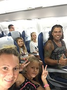 In het vliegtuig