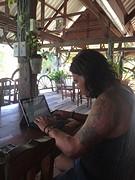 Didi werkt aan het blog