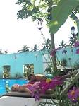 Didi en Joli aan het zwembad