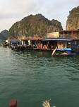 Floating village halong bay