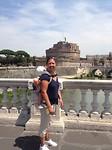 Tiber, op de achtergrond Castel Sant'Angelo