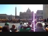 Paus verwelkomt tandemtrappers