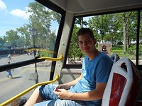 Marc in de Big Bus