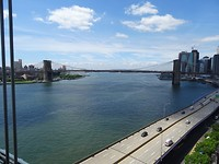 Brooklyn Bridge vanuit de bus