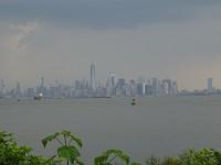 Zicht op Manhattan met buien