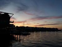Zonsondergang aan de waterkant
