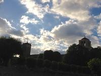 Basiliek van Vezelay bij avond