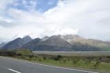 op weg naar Mount Cook langs Lake Pukaki