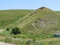 Beetje wind vangen op de top van de heuvel?!