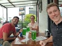 Groen bier met Juan