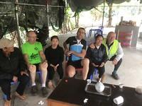 Theepauze op weg naar Pho Rang