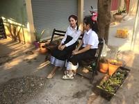 Laotiaanse schoolmeisjes