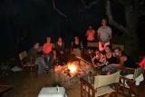 kampvuur tijdens het kamperen!