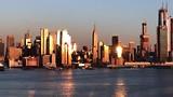 Uitzicht over de Hudson River naar Manhattan