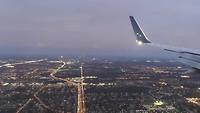 Orlando vanuit het vliegtuig