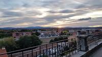 Astorga, Kijkend naar de bergen in Noord Spanje