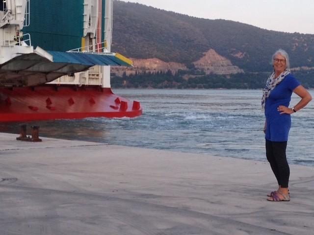 Manoeuvreren in de haven van Igoumenitsa