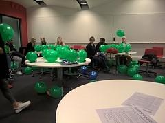 Simulatie met ballonnen als college :)