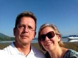 Selfie genomen aan de kust