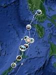 Mijn route van de afgelopen vier weken door Palawan