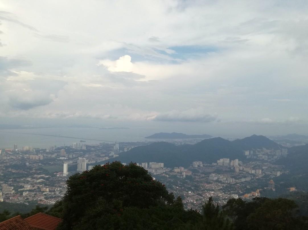 Uitzicht vanaf Penang Hill