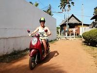 Cor op de scooter