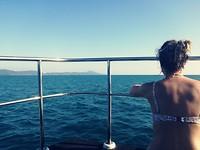 Corien op de boot