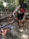 Bamboe koffie tijdens de kano tour