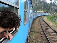 In de trein, opweg naar mijn allerlaatste bestemming...