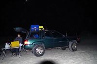 Camperen op het strand