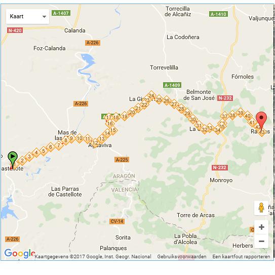 Route fietsdag 10